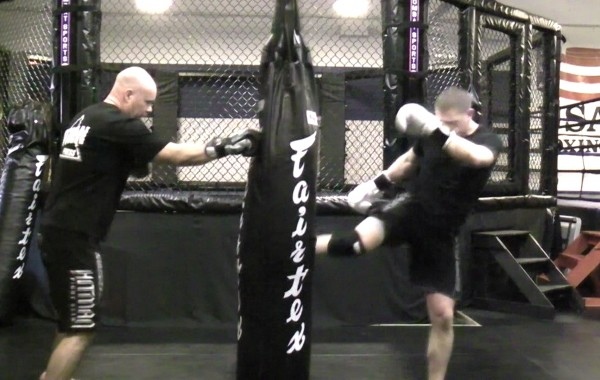 Muay Thai Heavy Bag Drill: Round Kick Pyramid Blitz