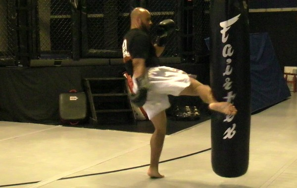 Kickboxing Heavy Bag Drill: Low-Mid-High