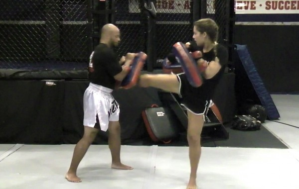 Muay Thai Dual Pad Kick Training: Single Kicks