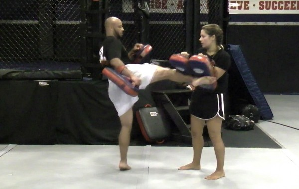 Muay Thai Dual Pad Kick Training Drill: Pyramid