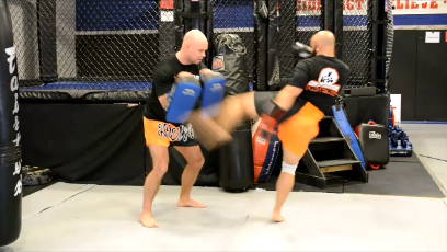 Muay Thai Pad Training: Double Kick Combinations