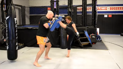 Muay Thai Pad Training: High(head) Kick Combinations