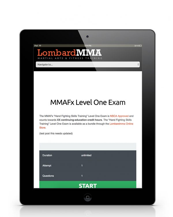 MMAFx Level One Exam