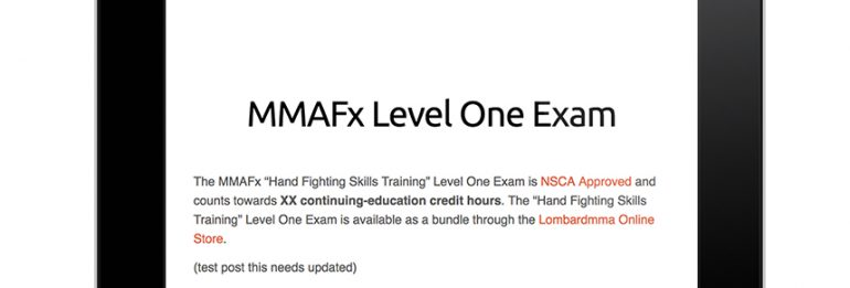 MMAFx Level One NSCA Exam